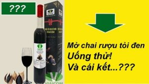 Cùng mở chai rượu tỏi đen ra uống thử và cái kết