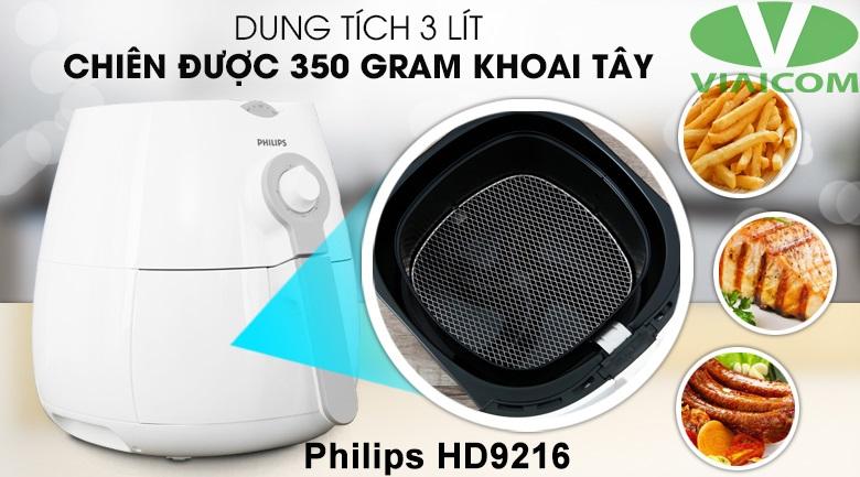 Nồi chiên không dầu Philips HD9216 - Dung tích 3 lít