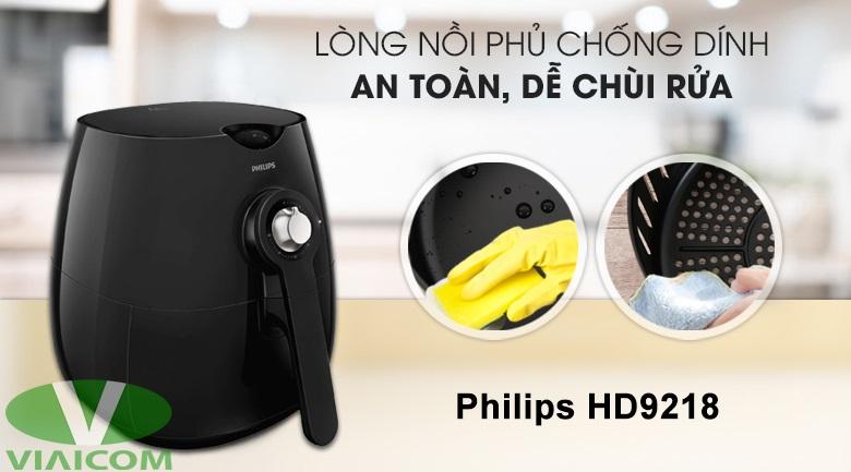 Nồi chiên không dầu Philips HD9218 - Lòng nồi phủ chống dính