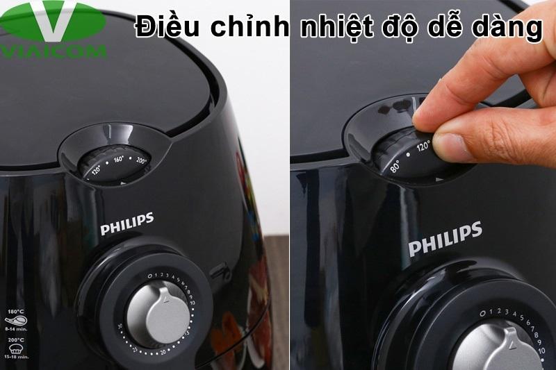 Nồi chiên không dầu Philips HD9220 - Điều chỉnh nhiệt độ dễ dàng