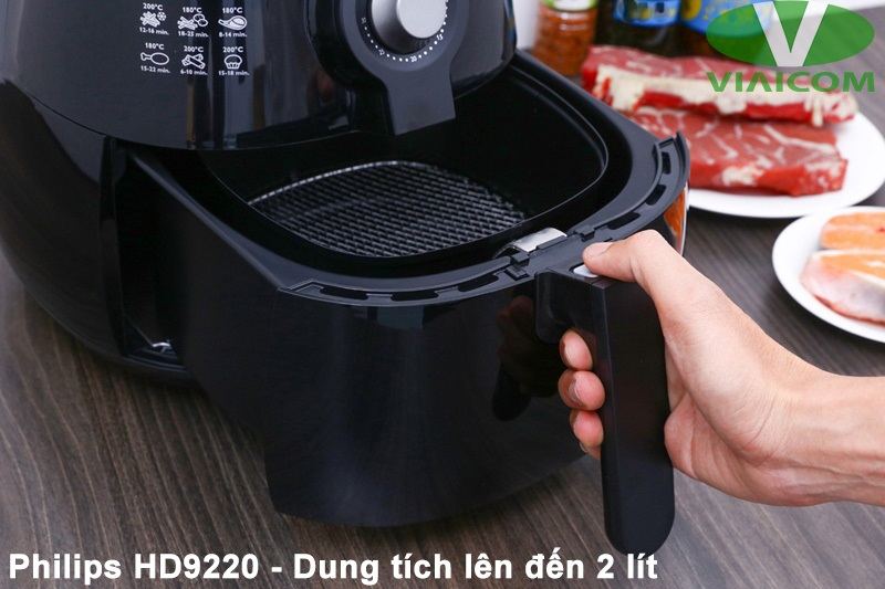 Nồi chiên không dầu Philips HD9220 - Dung tích lớn