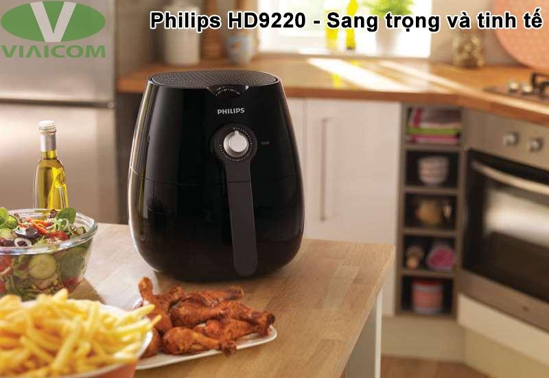 Nồi chiên không dầu Philips HD9220 - Sang trọng và tinh tế
