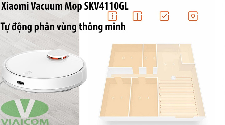 Xiaomi Vacuum Mop SKV4110GL - Tự động phân vùng thông minh