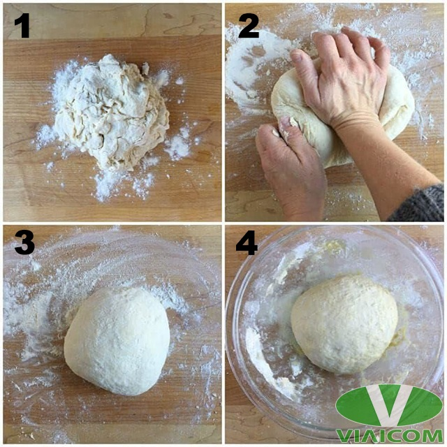 Cách nướng bánh mì bằng nồi chiên không dầu - Nhào bột