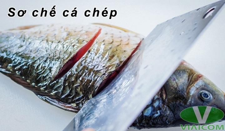 Nướng cá chép bằng nồi chiên không dầu - Sơ chế cá chép