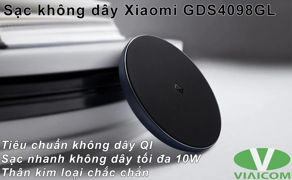 Sạc không dây Xiaomi GDS4098GL - Tiêu chuẩn QI