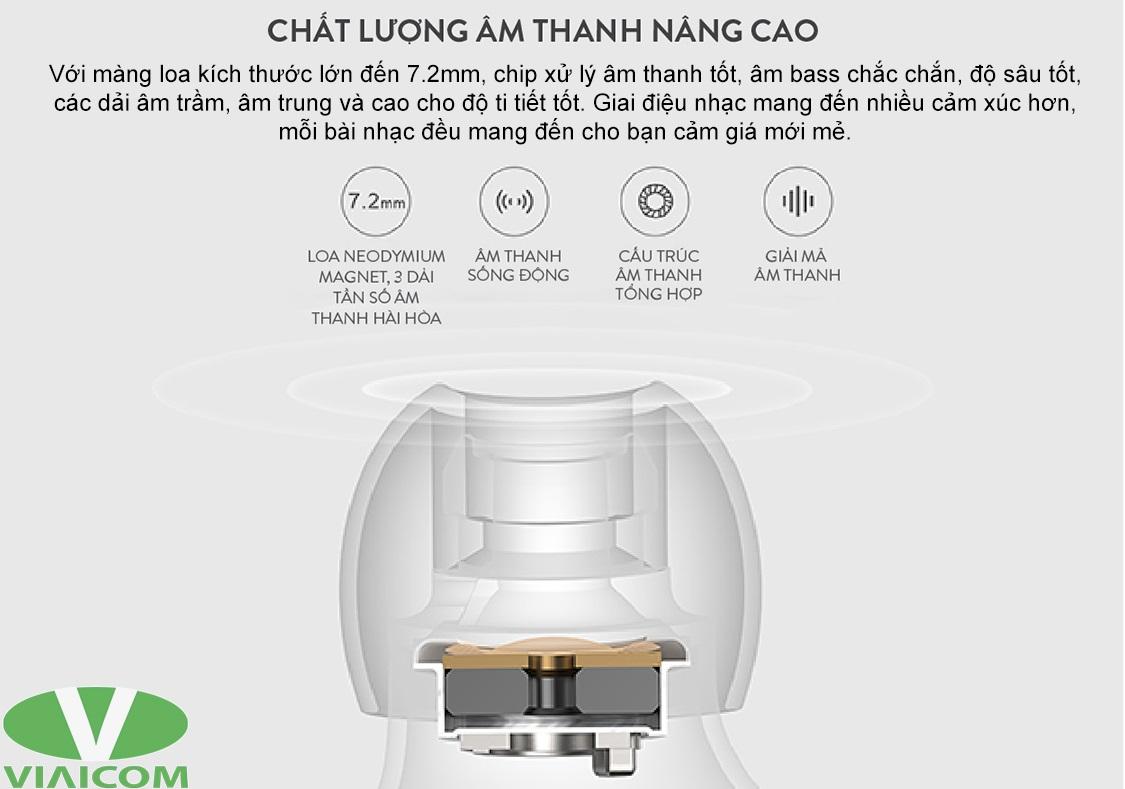 Tai nghe Xiaomi ZBW4480GL - Chất lượng âm thanh tốt hơn