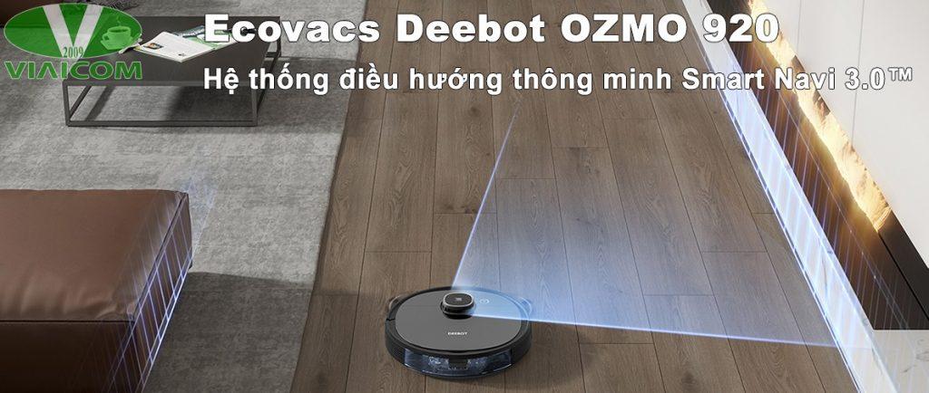 Robot hút bụi lau nhà Ecovacs Deebot OZMO 920 - Hệ thống điều hướng thông minh Smart Navi 3.0