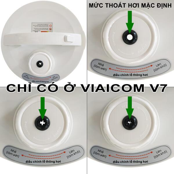 Tính năng điều chỉnh mức thoát hơi nước chỉ có ở Viaicom V7