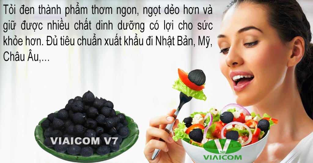 Tỏi đen làm từ Viaicom V7 đạt tiêu chuẩn Nhật Bản
